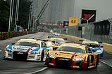 Audi Sport customer racing mit 14 Rennwagen in Macau